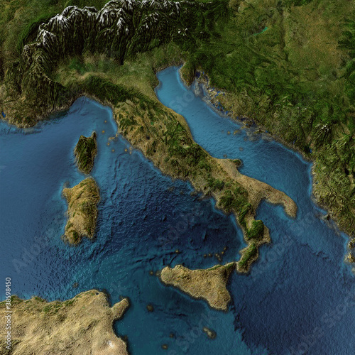 Italy 3d map