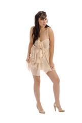 robe légère couleur chair 3