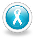 "Light Blue Icon ""Awareness Ribbon"""