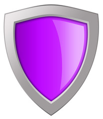 Glass pink shield