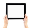 Holding Electronic Tablet PC In Hands