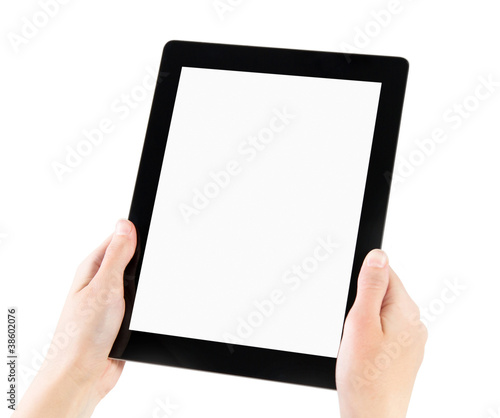 Holding Electronic Tablet PC