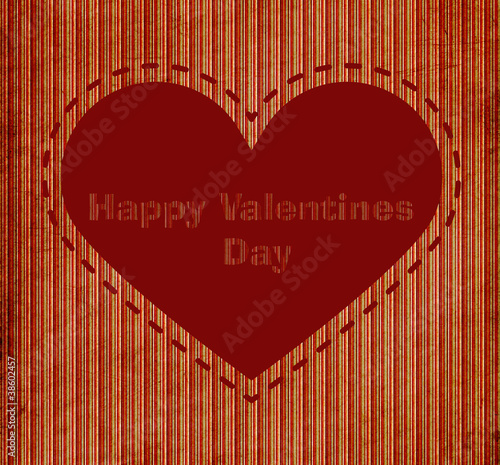 vintage background with heart and message happy valentine's day