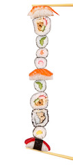 Maxi sushi, isolated on white background