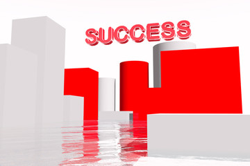 Way to Success Busines Concept 3D render