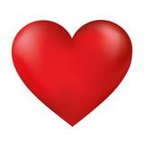 red heart , vector