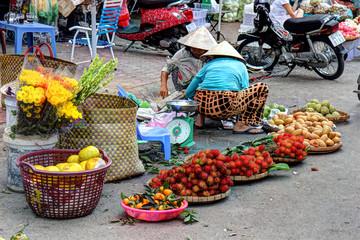 commerce de rue Dalat Vietnam
