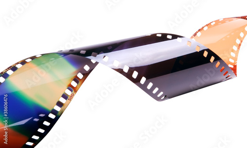photofilm isolated on white