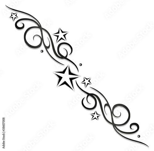 tattoo tribal sterne stars logo black grey. Black Bedroom Furniture Sets. Home Design Ideas