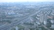 Cars go on highway in morning, defocused
