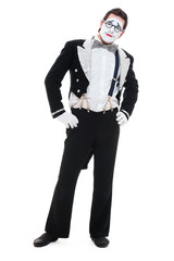 portrait of mime in tailcoat