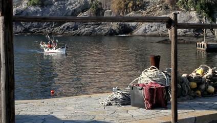 Fisherman coming back home.
