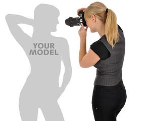 Fotografin mit Platz für Modell