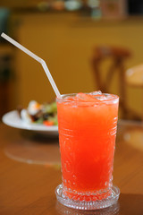 fruit red cocktail