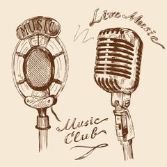 vintage microphone doodles
