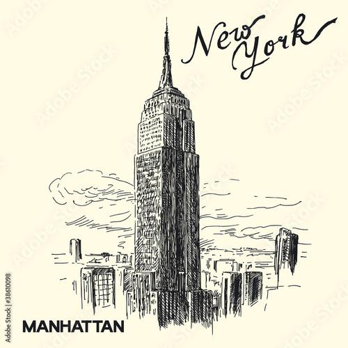 Fototapeten,new york,skyscraper,manhattan,gebäude