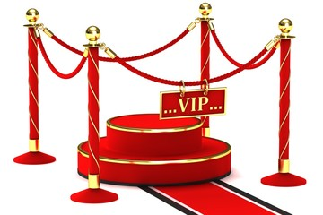 A red carpet and velvet rope