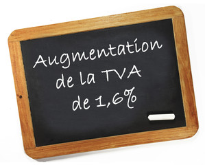 Augmentation de la TVA de 1,6%