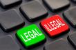 Clavier d'ordinateur légal illégal
