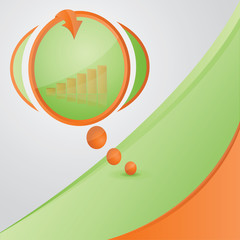 Vector abstract background with speech bubble