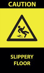 CAUTION-SLIPPERY FLOOR