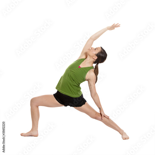 woman doing yoga,