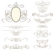 set of vintage decorative elements