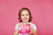 Laughing preschool girl
