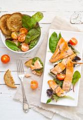 Trota salmonata con verdure