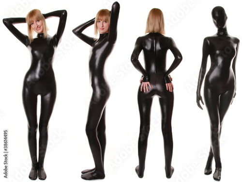Black Spandex Zentai Fetish Catsuit