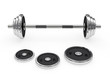 Weight barbell disposed horizontally
