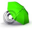 Schutz der Copyrights Schirm Gruen