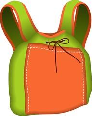 Backpack Green and Orange