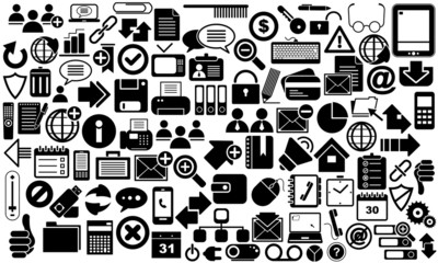 Set of different icons internet business.
