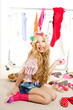 fashion victim kid girl wardrobe messy backstage