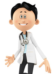 doctor cartoon surprise