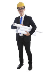 Engineer with paper works