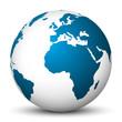 Weltkugel, Erdkugel, Erde, 3D, Welt, Globus, blauer Planet, Icon