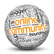 Online Community, Kugel, 3D, Web 2.0, Freunde, Blog, Forum, Team