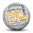 Soziales Netzwerk, Kugel, 3D, Kommunikation, Kontakt, Online