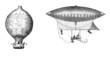 canvas print picture - Ancient Aerostats