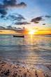 Barque au crépuscule - Ile de La Réunion