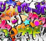 Fototapete Nahtlos - Hintergrund - Graffiti