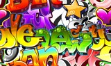 Fototapety Graffiti Urban Art Background. Seamless design