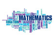 """MATHEMATICS"" Tag Cloud (maths formula x y equation theorem)"