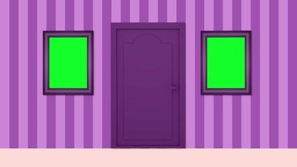 Room and open door