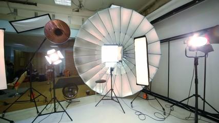 Inside modern photo studio