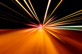 Fototapety rapid race of night street