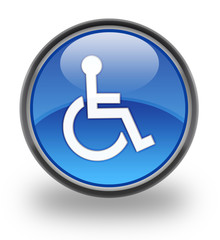 Disabled symbol glossy icon