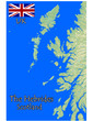 hebrides scotland uk map flag emblem